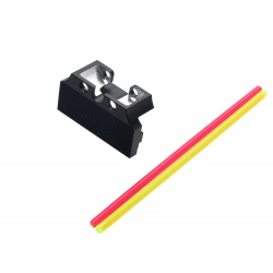 Fiber Optic Rear Sight Plate